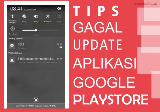 Mengatasi Tidak Bisa Update Aplikasi Google Playstore